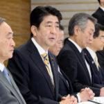中央防災会議の安倍首相