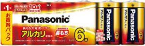 パナソニック 単1形アルカリ乾電池 6本パック